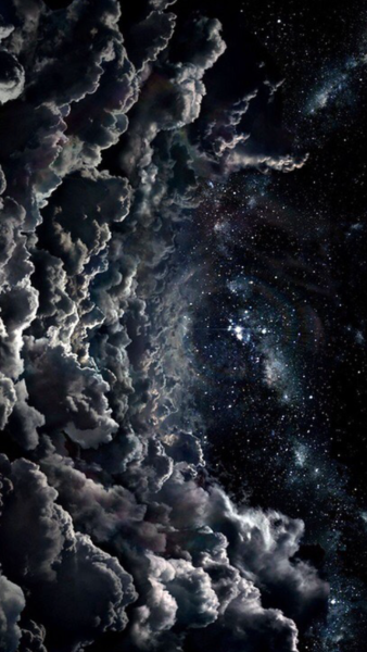 Cloudy Night Sky Wallpaper Astronomy Universe Outer Space