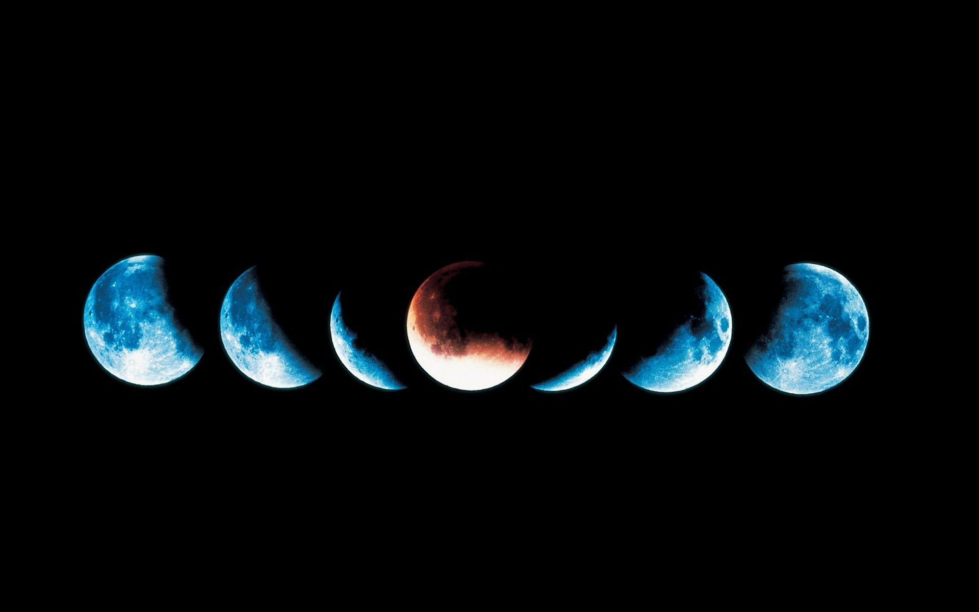 Moon eclips omslagfoto achtergrond