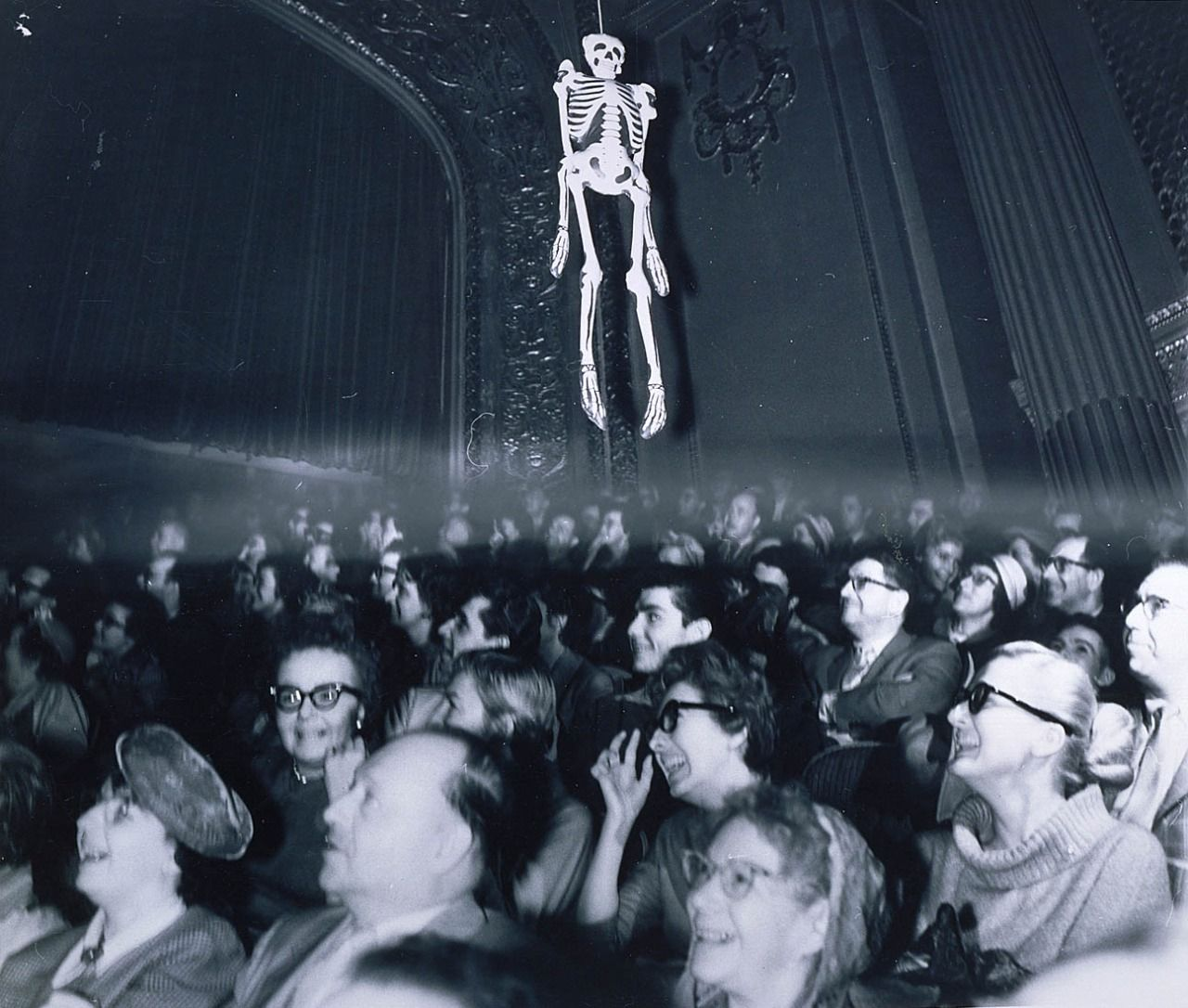 Untitled (In the Movie House Watching Haunting of Hill House), ca. 1950, Weegee, Gelatin silver print on paper, Smithsonian American Art Museum Museum purchase, 1988.45.
