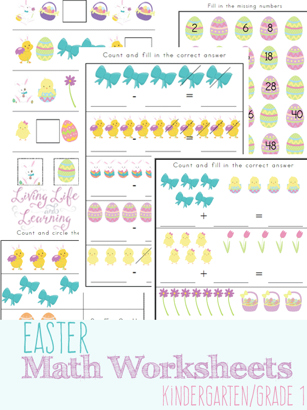 Free printable Easter-Themed Math Worksheets | Math worksheets ...