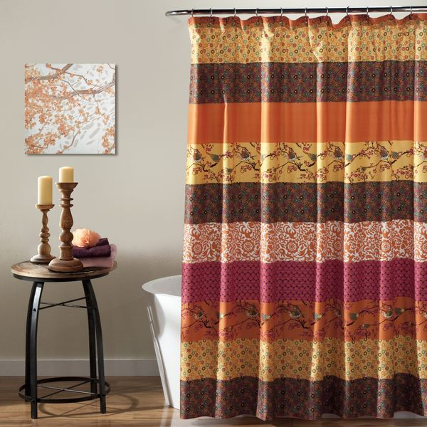 Lush Decor Royal Empire Tangerine Shower Curtain