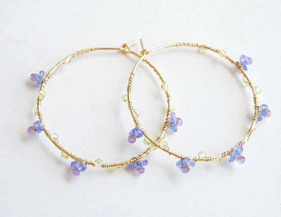 Photo of Jewelry Accessories – Tanzanite Amethyst Hoop Earrings, Don't Forget Me Jewelry, Blue Purple Earring …