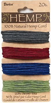 $5.95 Earthy Natural Hemp Cord