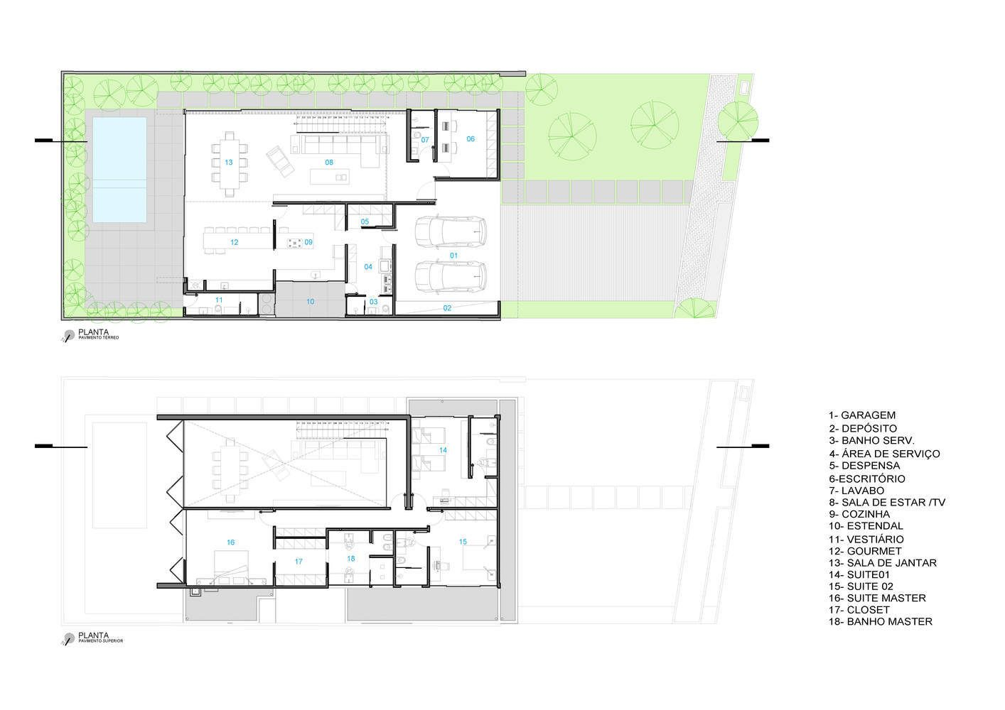 Gallery Of Brazilian Houses 20 Concrete Projects In Plan And Section 16 Concrete Projects House Plans Contemporary House Plans