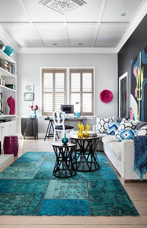 Pin von Bachmann auf creativwand | Pinterest | Blaue Teppiche ...