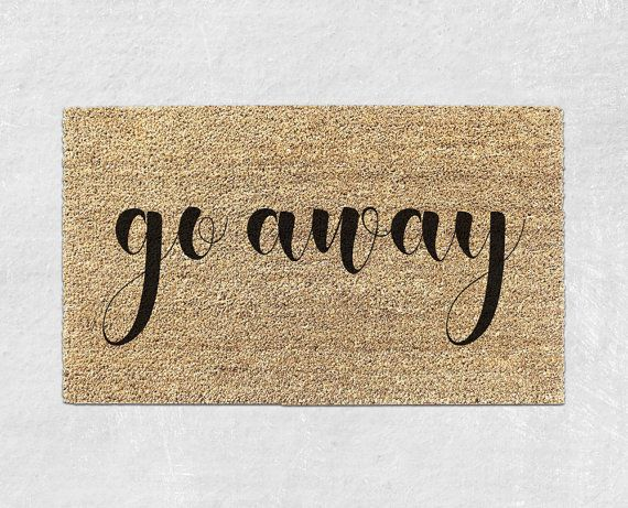 Go Away Doormat Funny Door Mat