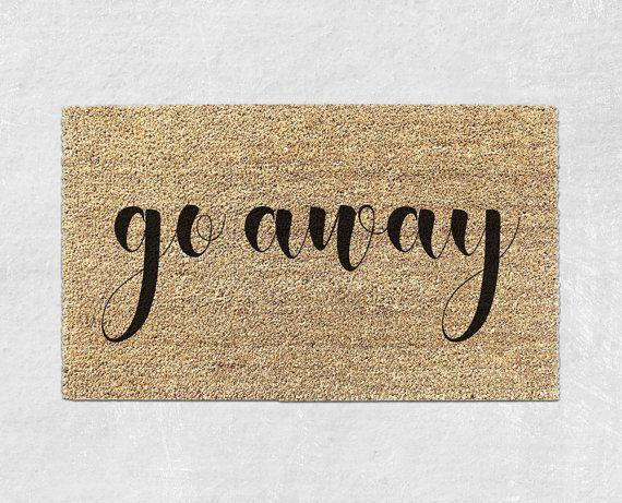 Go Away Doormat Funny Door Mat By Withloveandluxe