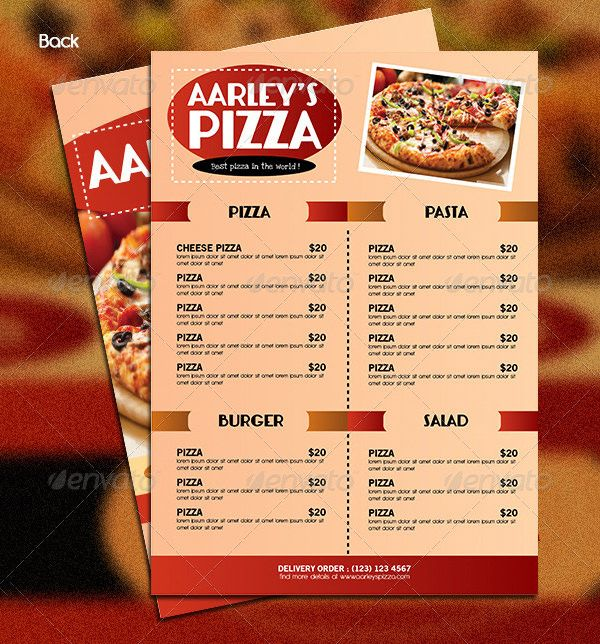 pizza menu template free psd eps documents download templates - Delivery Order Sample