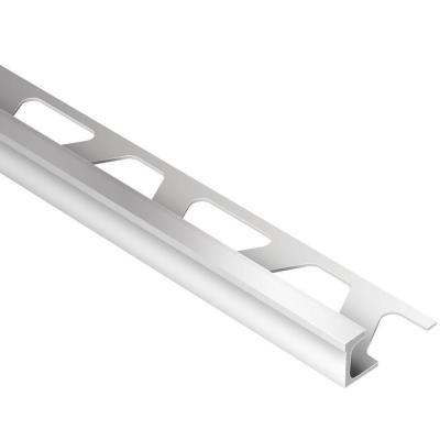 Schluter Deco Satin Anodized Aluminum 3 8 In X 8 Ft 2 1 2 In Metal Tile Edging Trim Ae100d Metal Tile Tile Edge Trim Tiles