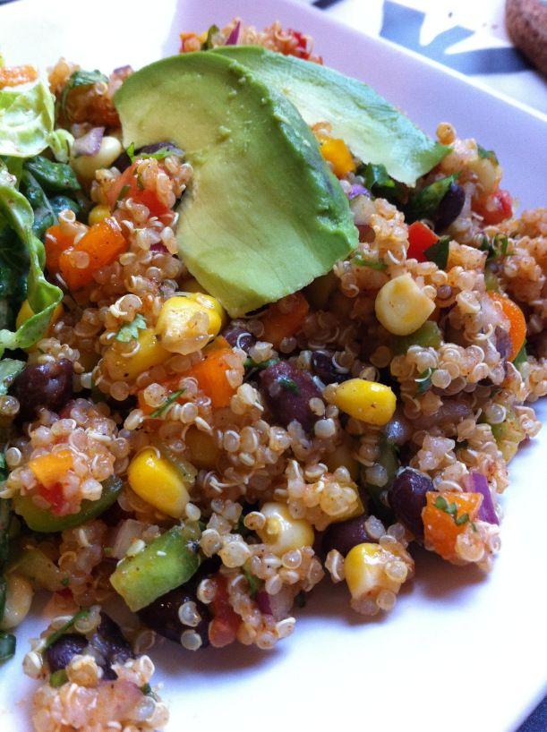 Fiesta Quinoa Vegetarian Menu Healthy Recipes Meals