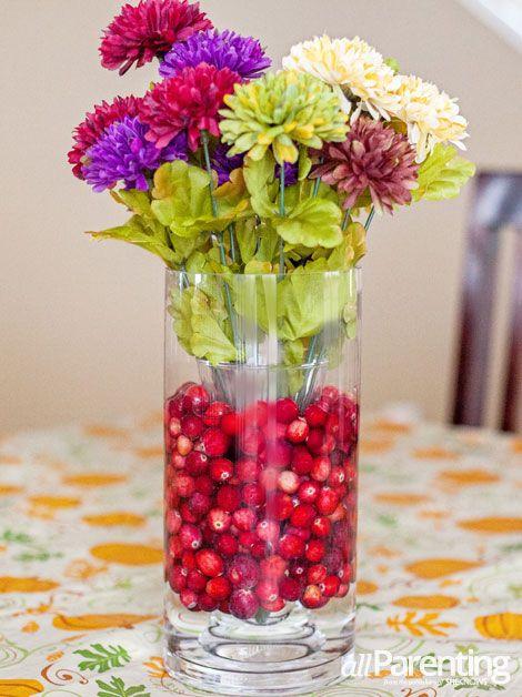 Allpaing Cranberry Thanksgiving Centerpiece