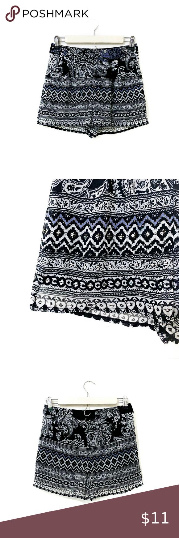 Paisley Beaded Chiffon Shorts XS Paisley print beaded chiffon shorts | Excellent condition, no beads or sequins missing | Size X-Small (XS) Patrons of Peace Shorts