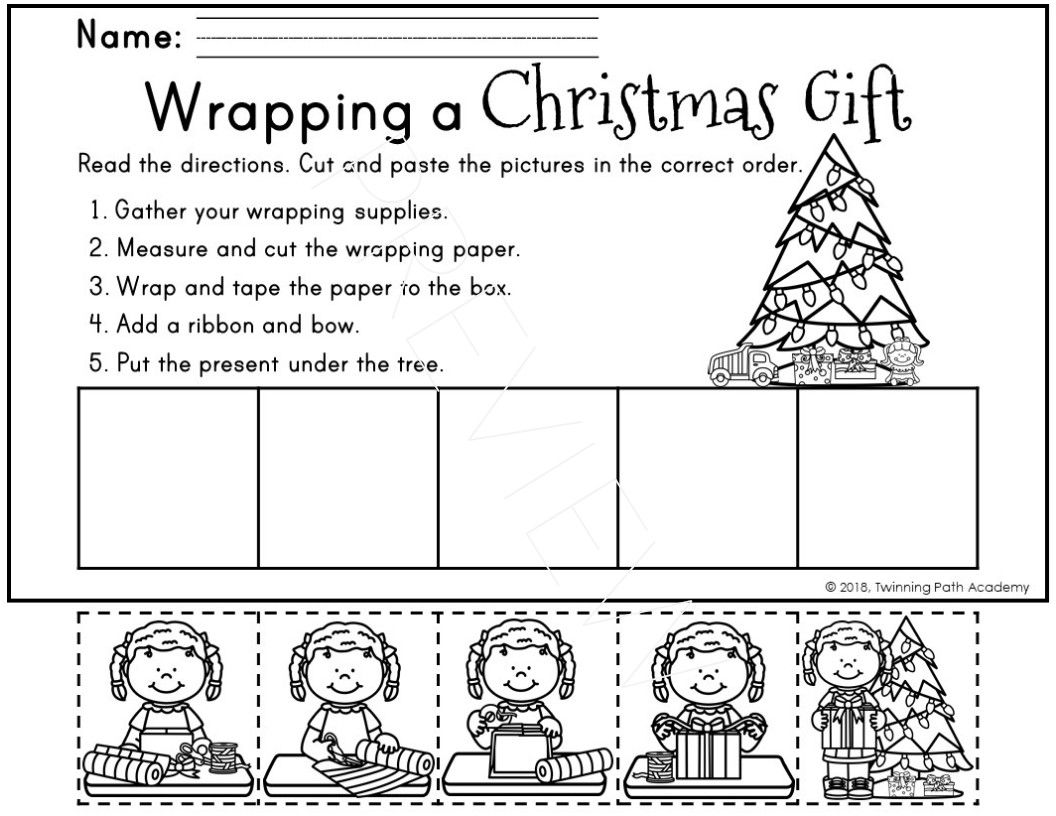 Kindergarten Christmas Packet