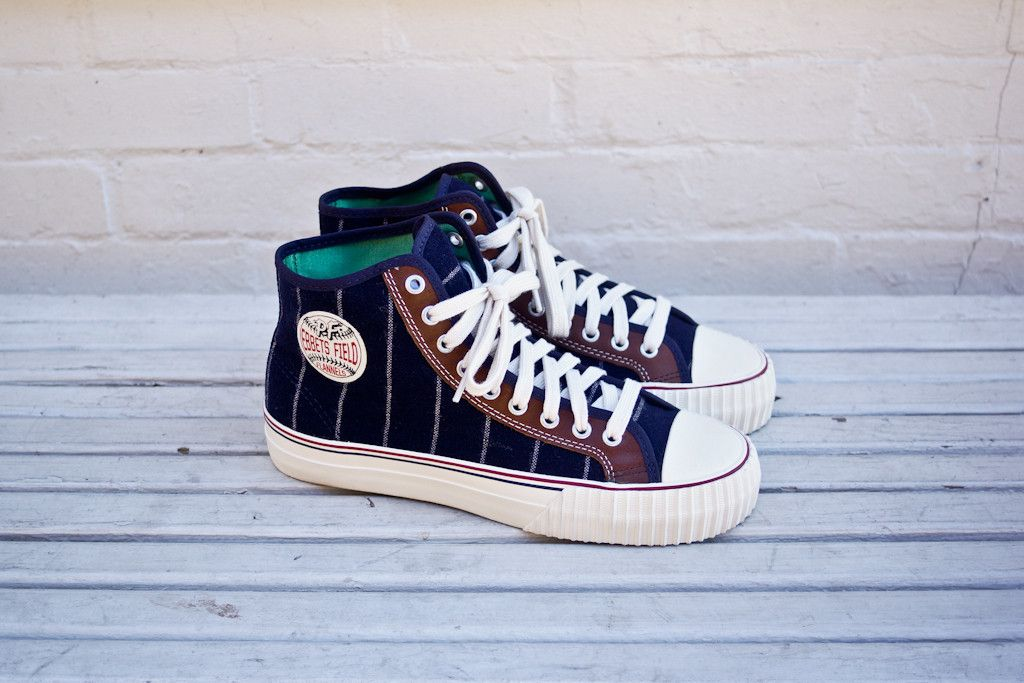 los angeles 39d5d c61b3 PF FLYERS x Ebbets Field Flannels Center Hi - Navy   Sneaker   Kith NYC