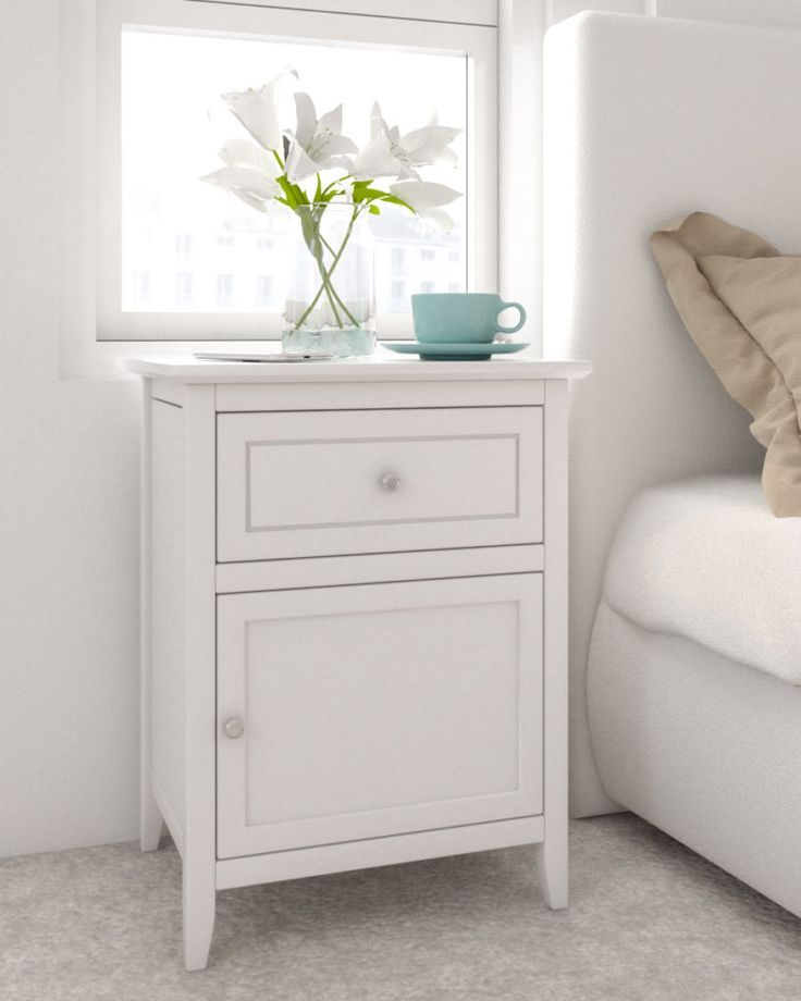 Room Design Com: Wood Nightstand Table For Small Bedroom In 2020