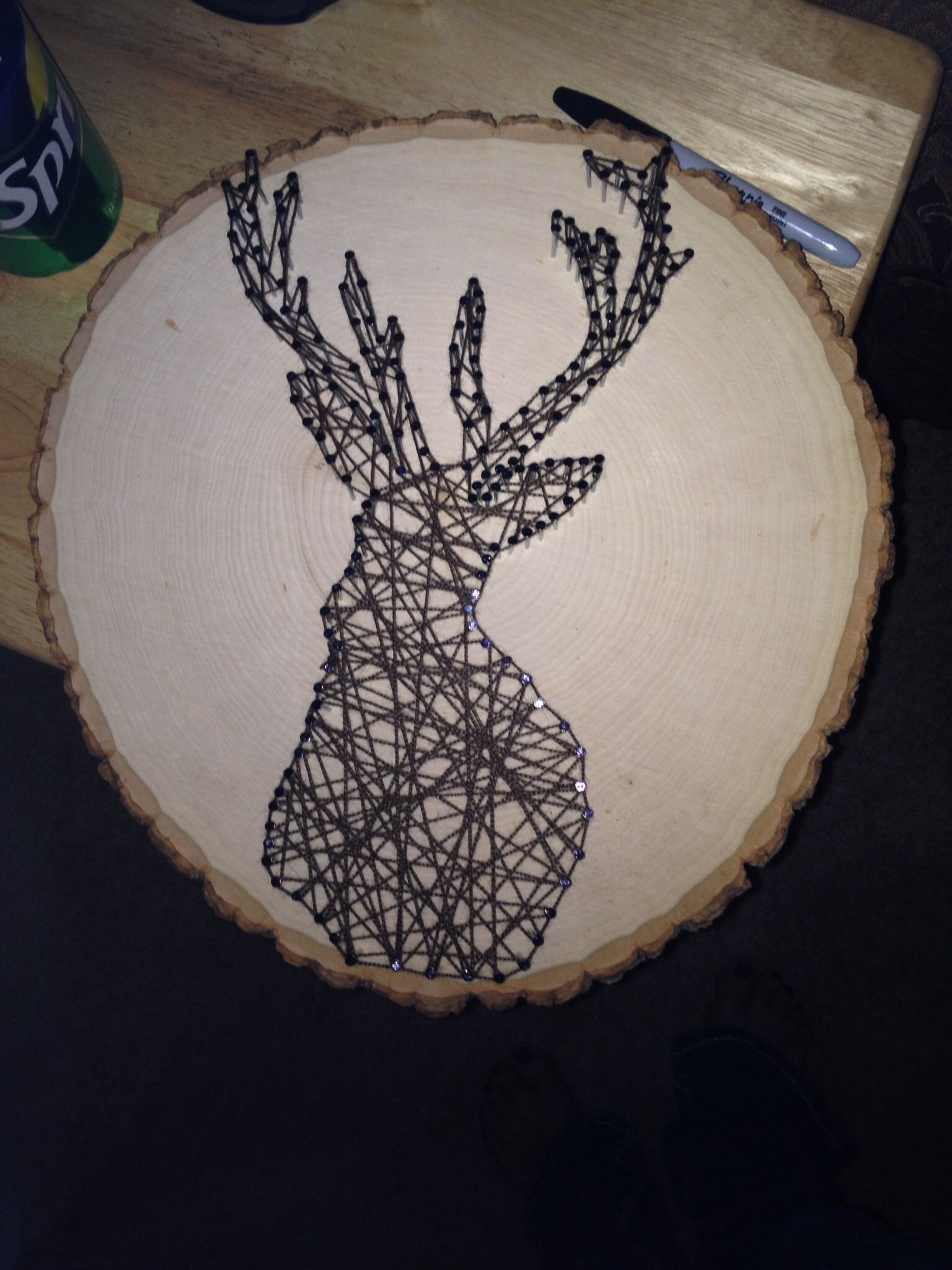 String art. Made this for my brother