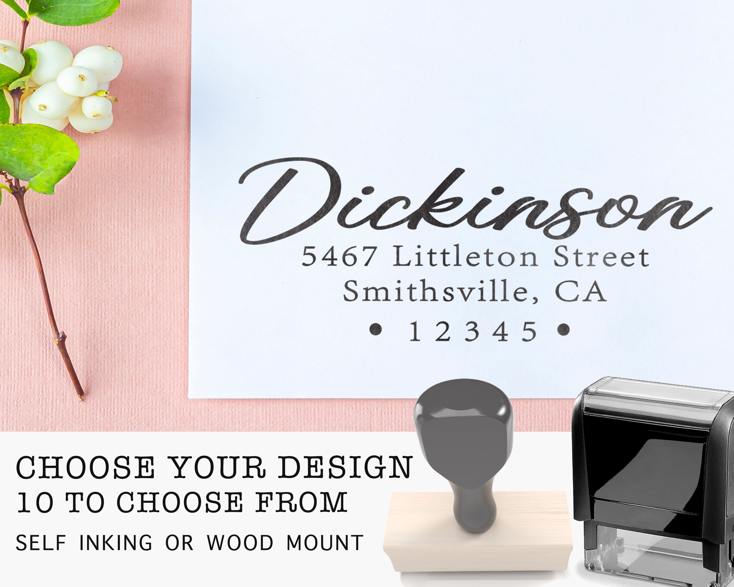 Return Address Stamp Self Inking Stamps