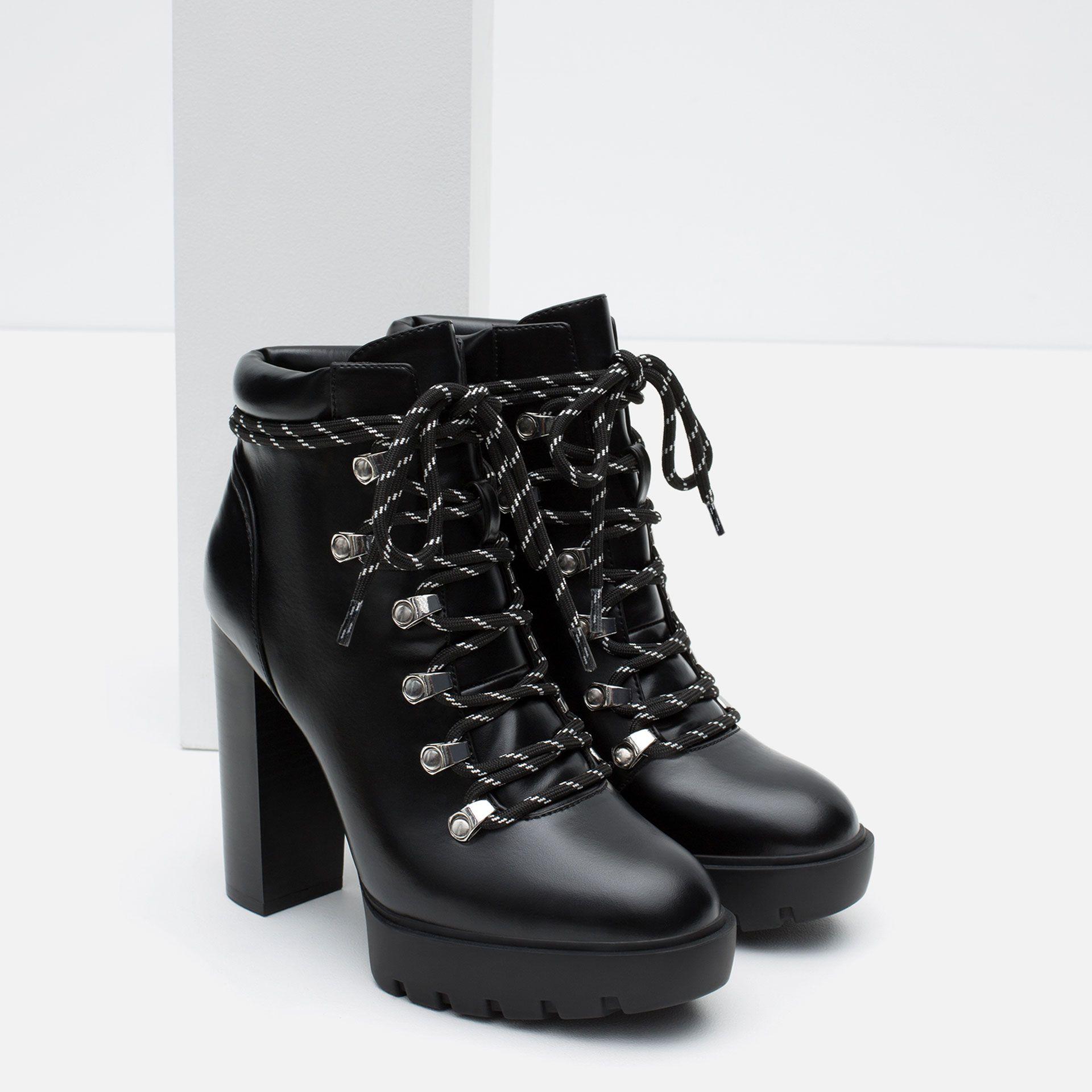 69d05b777db BOTTES À TALONS STYLE MONTAGNE - Tout voir - Chaussures - FEMME ...