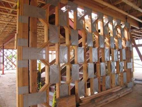 wood shear wall design things Pinterest Shearing Wall stud