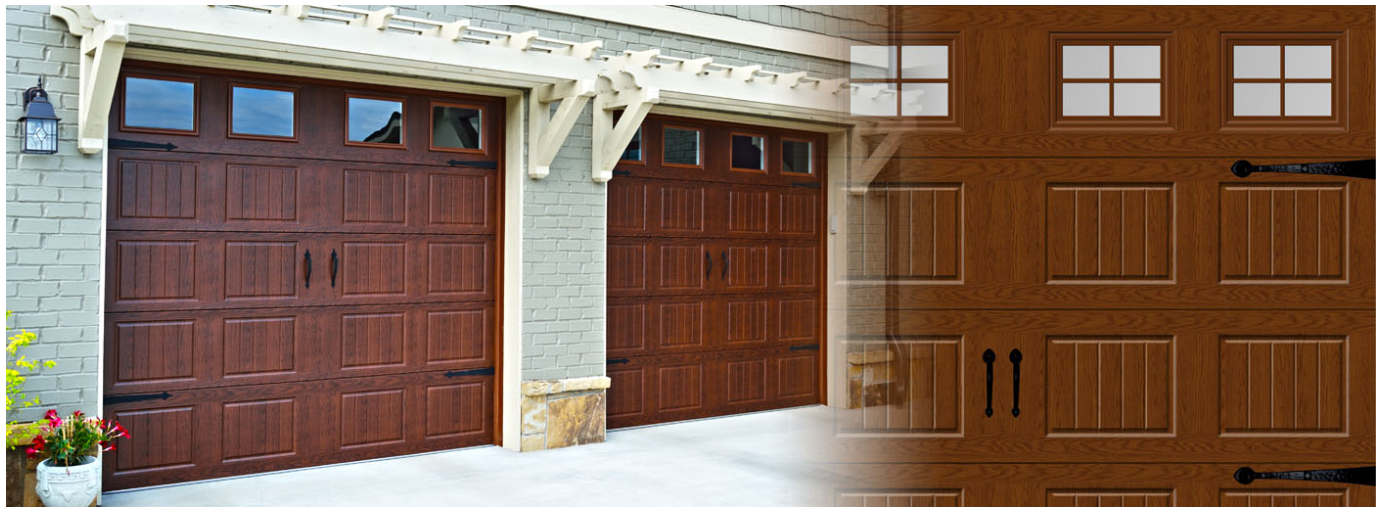 Elegant Look Of Wood With Durability Of Steel The Hormann Orion Collection With The With Images Garage Doors Garage Door Installation Residential Garage Doors