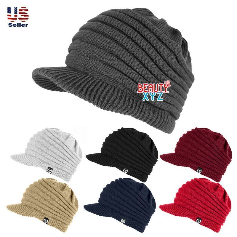 Warm Skullies Unisex Casual Caps Knitted Hats Gorro Louch Bonnet For Men Women