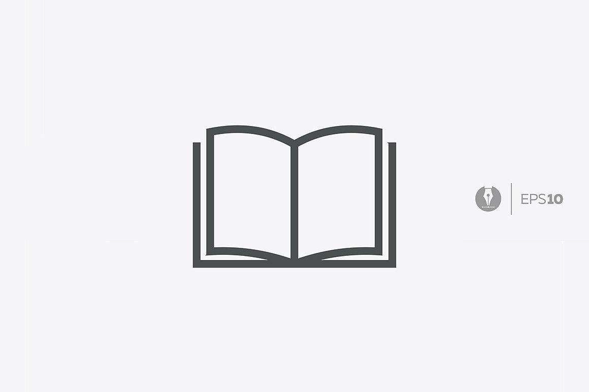 Abstract Vector Book Icon Book Icons Book Logo Icon