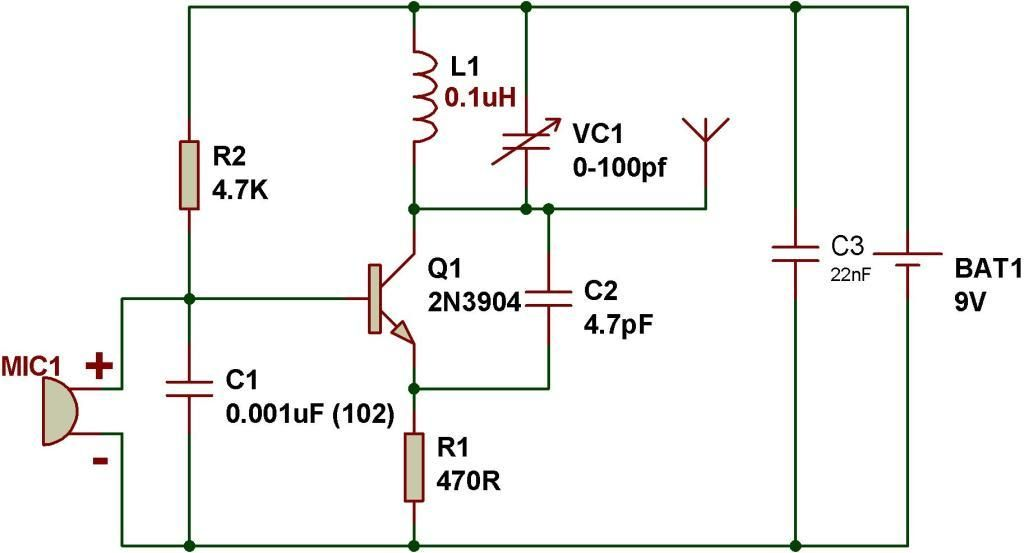 pnp transistor fm transmitter circuit wiring diagram wiring diagram for transmission 2001 dodge wiring diagram for transmitter #7