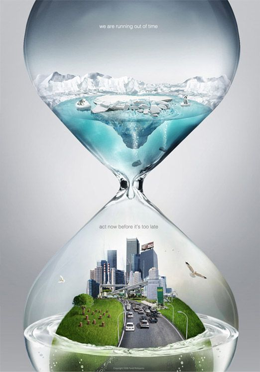 環保需要積極 減緩地球暖化就從現在開始 Global Warming Poster