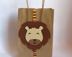 Sacolinha personalizados Leão -Safari