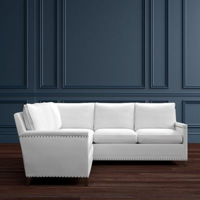 Addison 2 Piece L Shaped Loveseat Sectional Left Williamssonoma