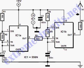 Provod Tracer Peredatchik Principialnaya Shema Circuit Diagram Circuit Transmitter