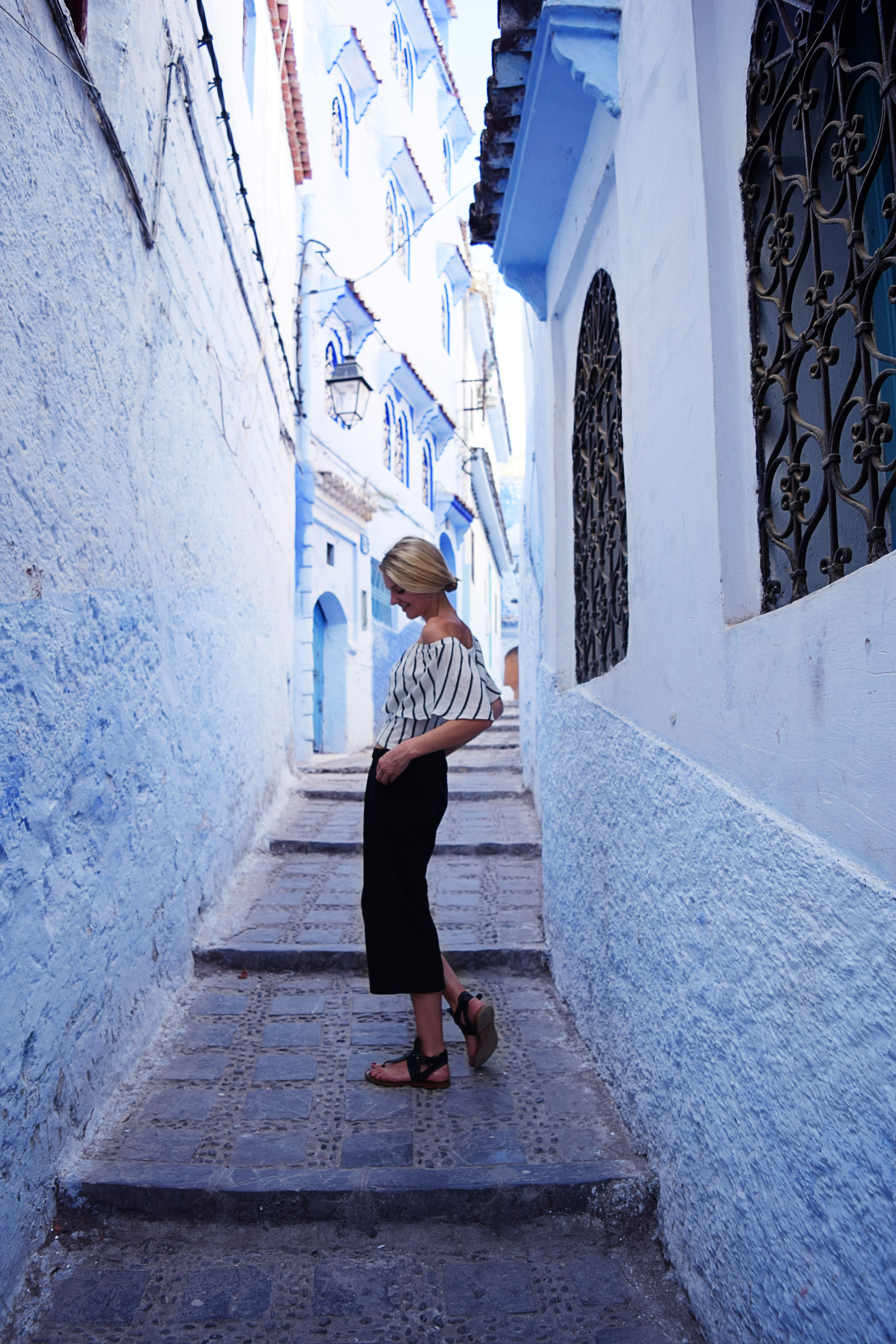 Get lost in the labyrinth of blue streets in Chefchaouen, Morocco