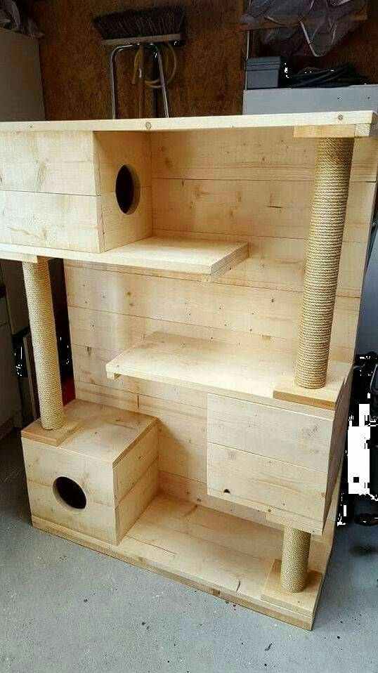12 Cool Cat Tree Plans – Cat Trees, Furniture & Toys For Happy Healthy Cats!