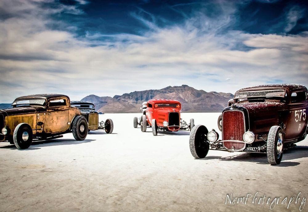 Vintage Ford Roadster Garage Art Man Cave Decor Four Hot Rod Poster Set,12x18in