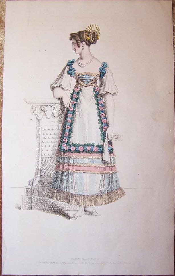 1820 fancy ball dress belle assemblee