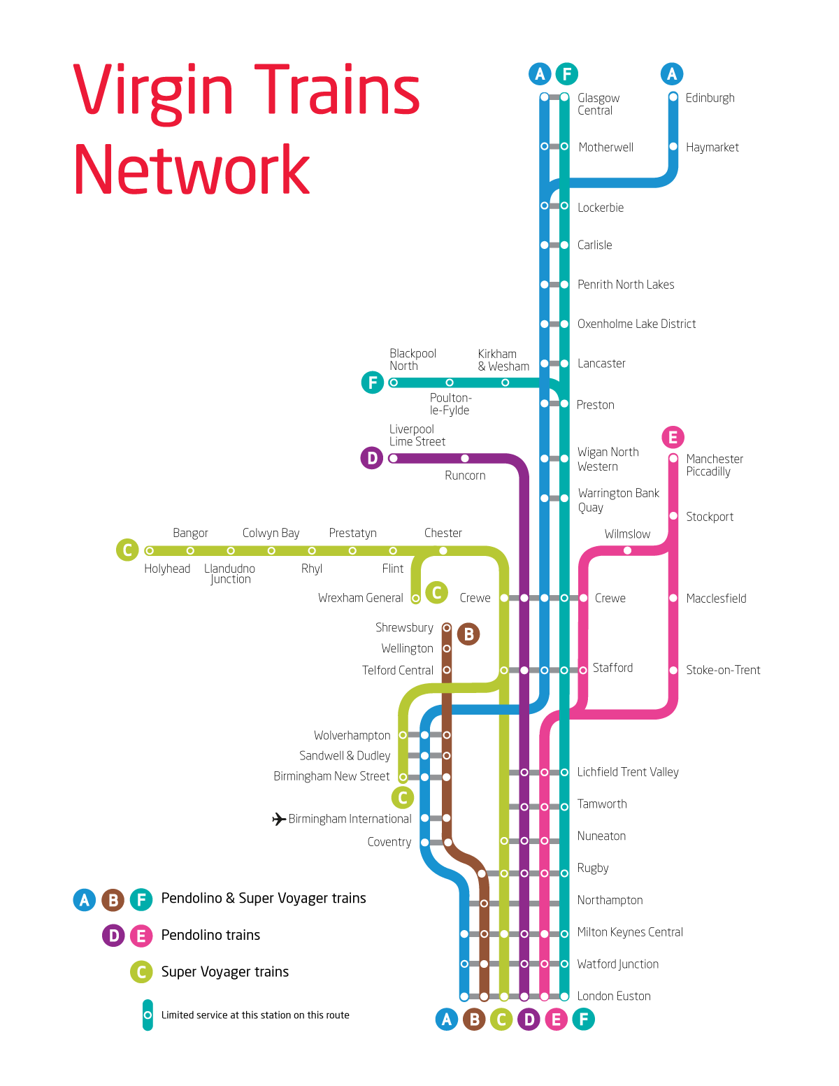 Virgin Trains Uk Route Map With Images Train Map Route Map