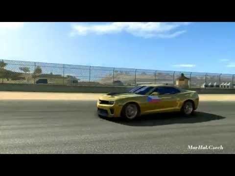CHEVROLET CAMARO ZL1 GOLD - MAZDA RECEWEY LAGUNA SECA - REAL RACING 3