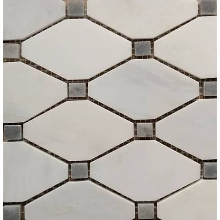 Best of Carrara Dot Diamond Mosaic Tile White and Gray 1 sq ft Top Search - Beautiful gray mosaic tile In 2019