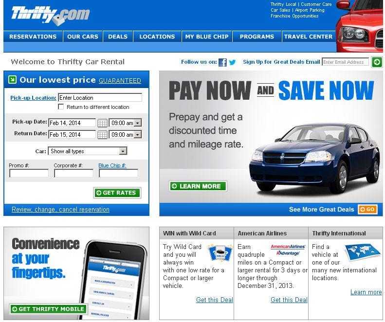 Thrifty Rent A Car Thrifty car rental, Car rental, Rent