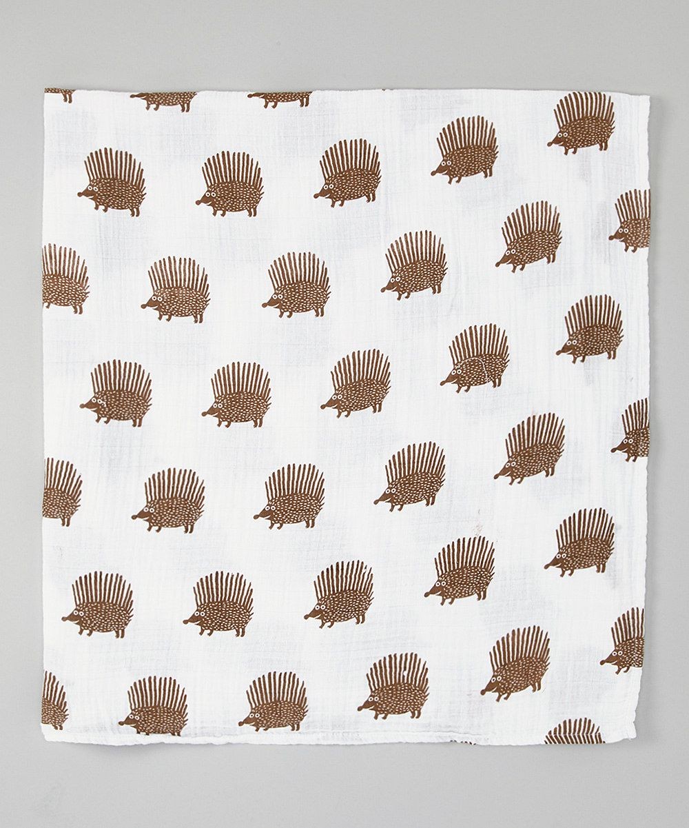 Another great find on #zulily! White & Tan Porcupine Organic Swaddling Blanket by Bambino Land #zulilyfinds