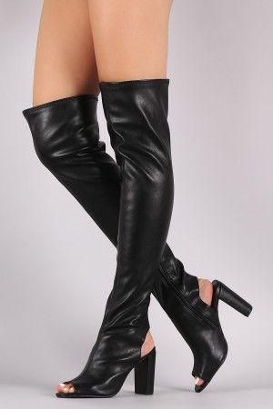 Qupid Black Boots