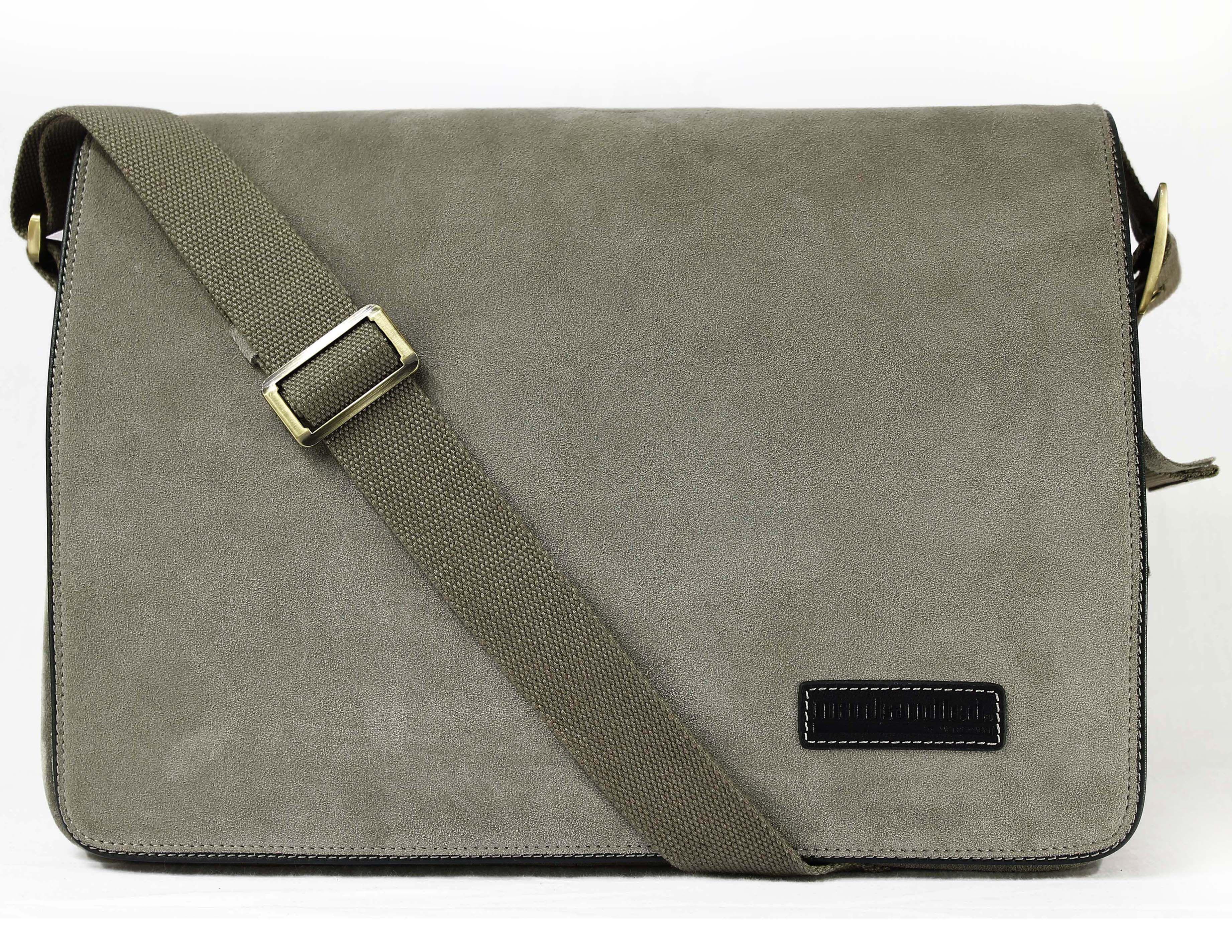 94cad17b52a9 Manhandled Suede Messenger Bag for men - Grey messenger bag for laptops    ipad
