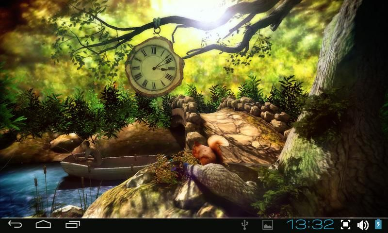 Love the clock! Live wallpapers, Fantasy forest