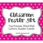 This cute set will fill your classroom with color and cheer!  This set includes:   * Word Wall Words label cards * Word Wall alphabet cards * N...