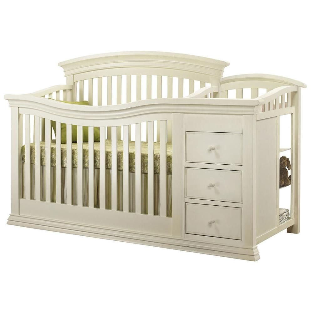 sorelle furniture verona crib changer in french white verona and