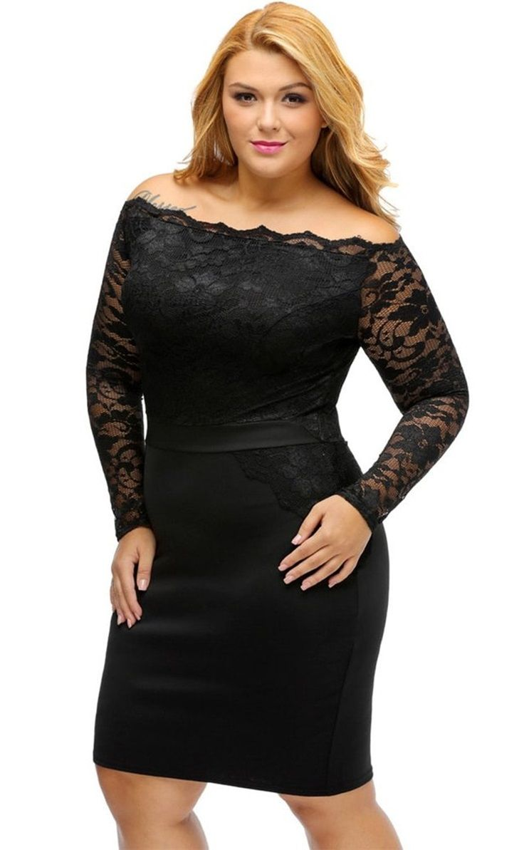 Achieve your most flattering look with this plus size black off