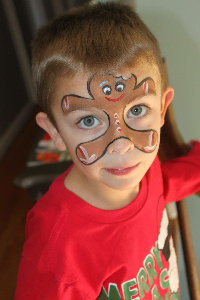 Gingerbread Man face painting