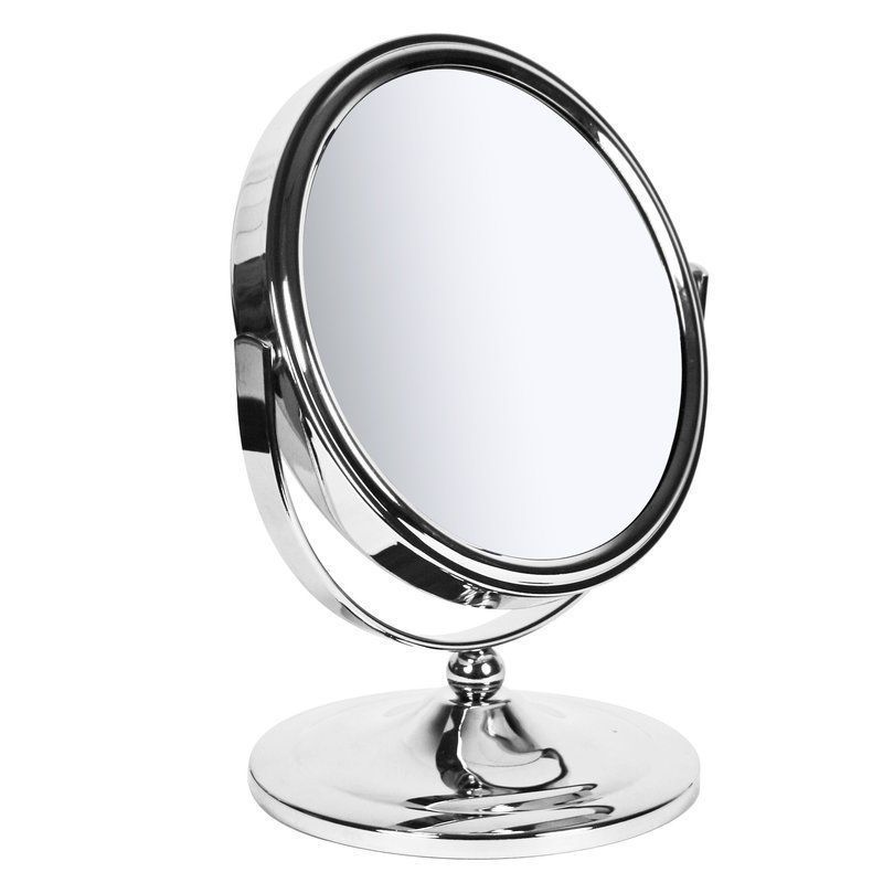 Style Of Makeup Shaving Mirror Oval Freestanding Metal Chrome Plated Frame Magnifying Review - Unique magnifying makeup mirror For Your Plan