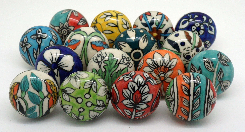 Unique set of 16 ceramic cupboard door knob designs available at www ...