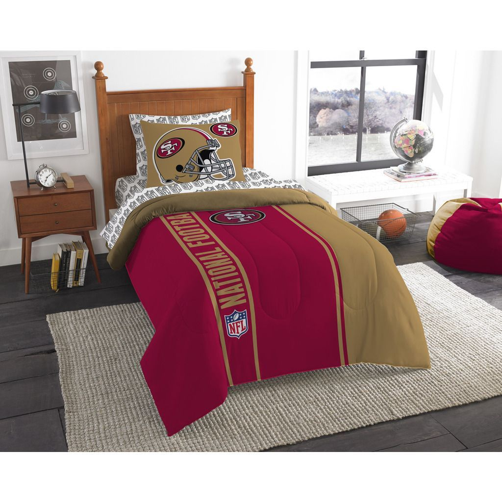Northwest NFL 845 49ers 5-piece Bed in a Bag with Sheet Set